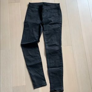 J brand coated black 901 skinny legging jeans